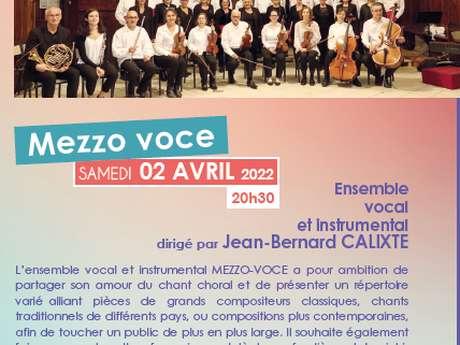 """Ensemble vocal et instrumental dirigé par Jean-Bernard CALIXTE """"MEZZO-VOCE"""" - Saison culturelle municipale"""
