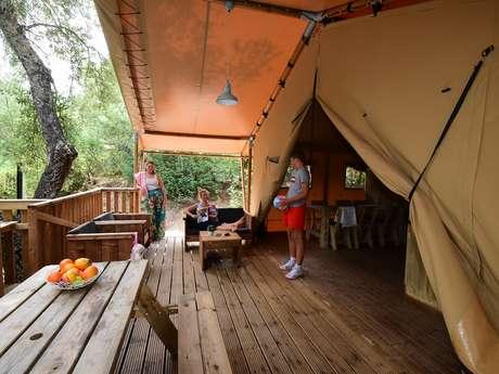 Tente safari lodge Domaine de la Bergerie