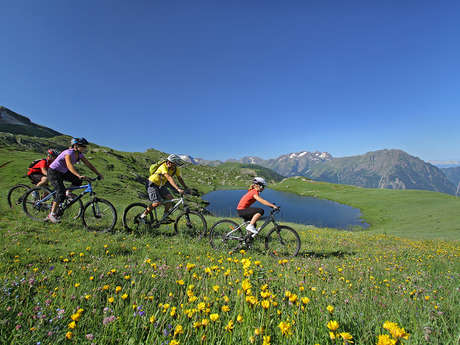 E-bike lake tour from Oz-en-Oisans
