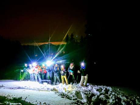Randonnée Raquette After-ski : les 7 Laux by Night