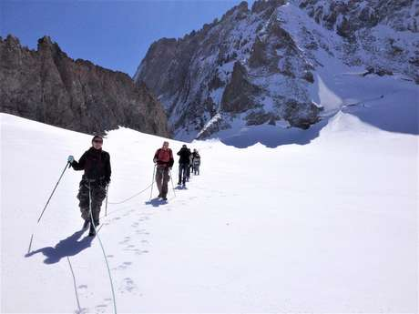 Easy glacier walk with a mountain guide