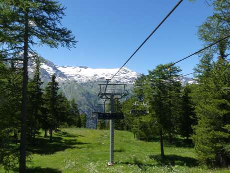 Termignon chairlifts in summer