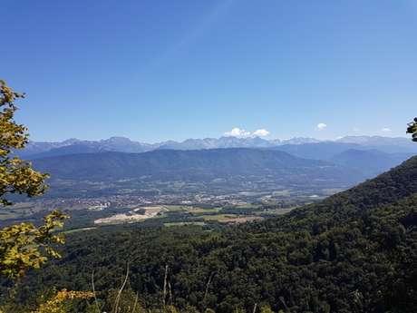 Mountain biking route les Coteaux de Chapareillan