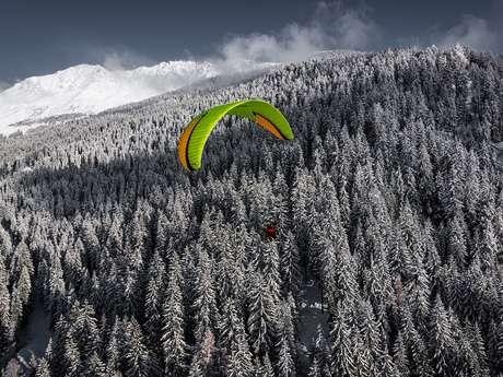 Gleitschirmfliegen mit Verbier Summits