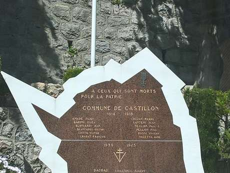 Castillon - Circuito n° 1 Itinerario a piedi del villaggio di Castillon