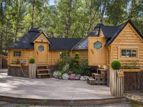 Kotas-Refuge Finlandais du camping de l'Iscle de Prelles