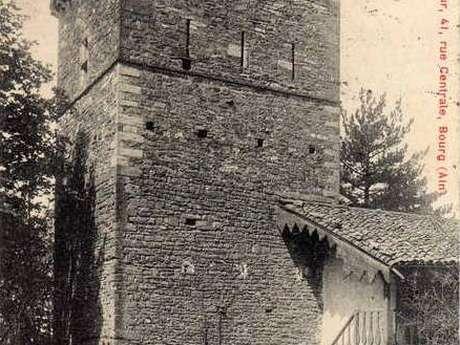 Château de Coligny-le-Viel : château du Châtaignat et sa tour de Menthon
