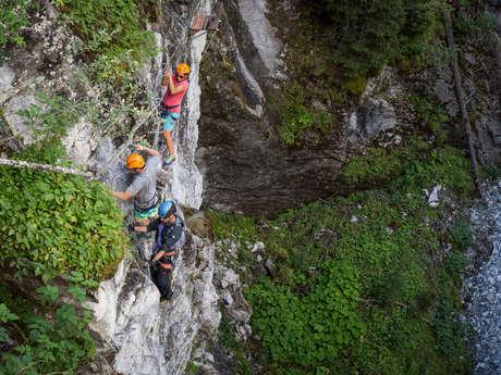 Klettersteig in der Mauvoisin-Schlucht