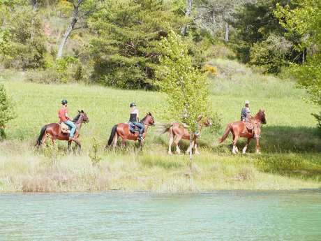 Daytime Visit of the Gorges on horseback and canoeing