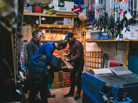 Ski repairs workshop