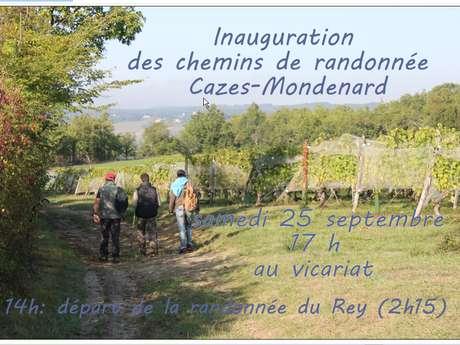 Inauguration des chemins de randonnées