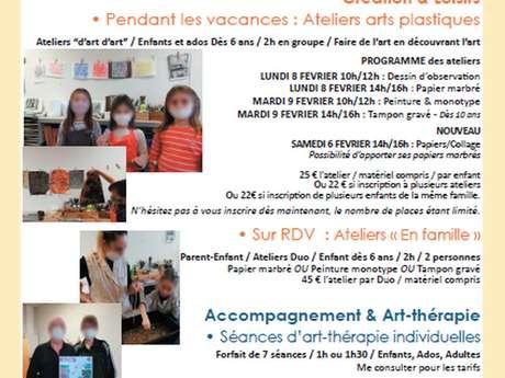"""Atelier Arts Plastiques Enfants Ados """"Papier marbré"""""""
