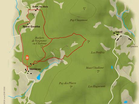 Verrières, au pied du Puy Chaumont
