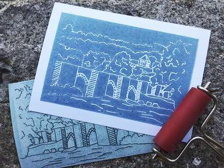 """Atelier """"Gravure sur carton"""""""