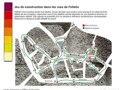 Jeu de construction dans les rues de Felletin