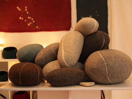 Stage de feutre de laine : développement de produits décoratifs petits et grands formats