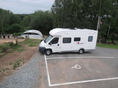 Aire d'accueil camping-car à la Ferme Arc-en-Ciel