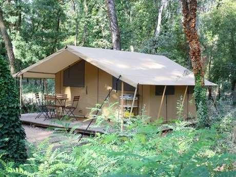 Huttes du camping de la Presqu'île