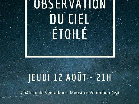 Observation du ciel étoilé au château de Ventadour