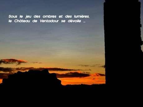 Viste au crépuscule du château de Ventadour