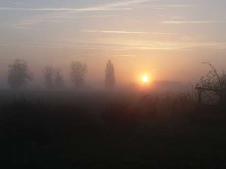 Balade au coucher du soleil à Saint-Christophe