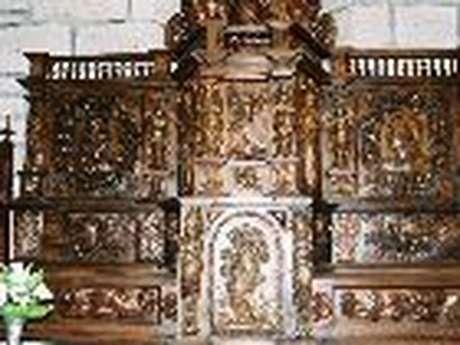 Tabernacle à ailes du XVII°s (Eglise St Pierre)
