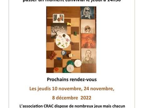 Après-midi jeux de stratégie et de société