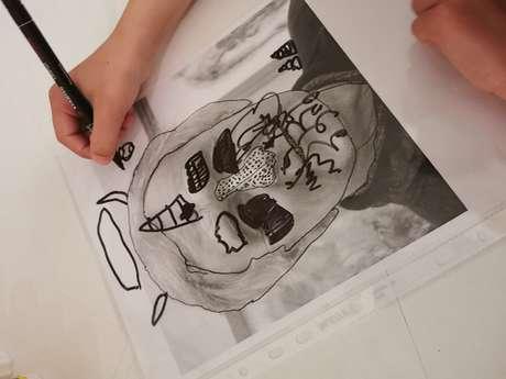 """Parcours créatifs au musée Denys-Puech """"Portrait tatoué"""""""