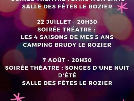 """Soirée Théâtre """"Songes d'une nuit d'été"""""""
