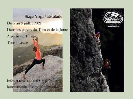 Stage yoga / escalade dans les gorges du Tarn et de la Jonte