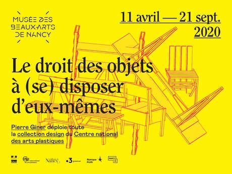 EXPOSITION LE DROIT DES OBJETS A SE DISPOSER D'EUX-MÊMES