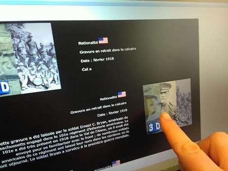 Salle 3D-gravures de soldats