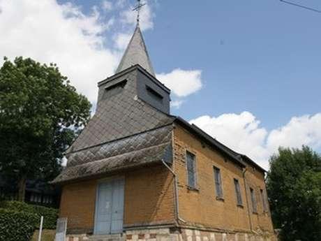 Eglise en torchis de Rouvroy-sur-Serre (vue extérieur)