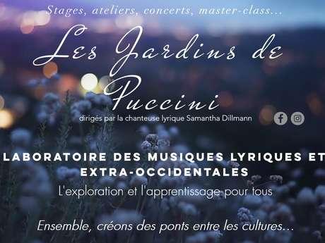 """Les Jardins de Puccini et leurs ateliers d'expériences vocales avec l'association """"Arts en campagne"""""""