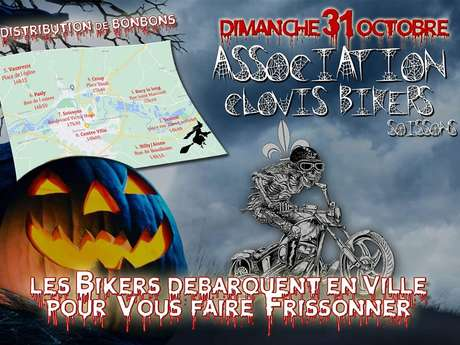 Clovis Bikers d'Halloween
