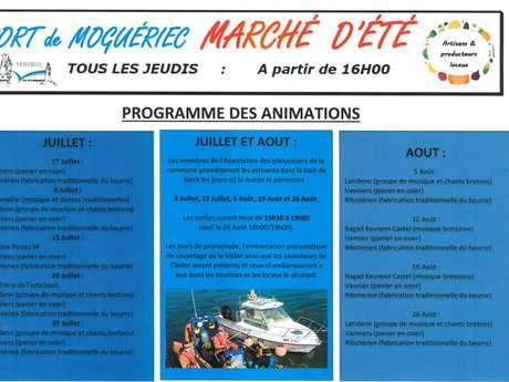 Marché de l'été à Moguériec
