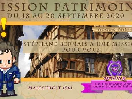 """Journées Européennes du Patrimoine - Application jeu vidéo Wizar """"Mission Patrimoine"""""""