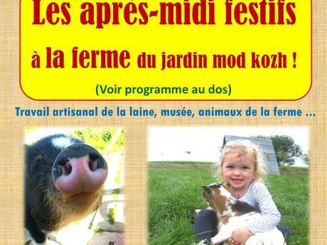 Après-midi à la ferme, visite et animaux