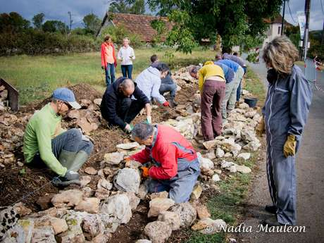 Restauration de murets en pierre sèche