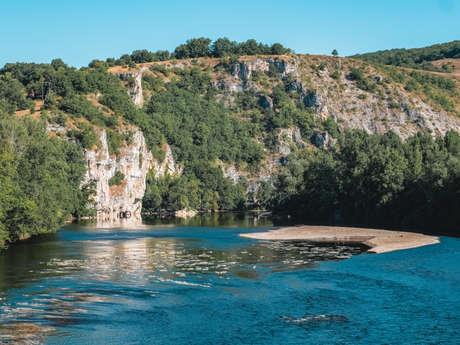 Baignade de la Bourgnette à Lacave