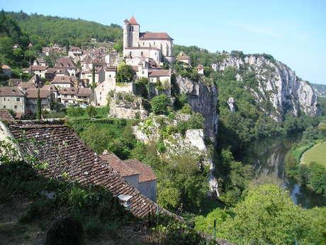 GR36 de Laramière à Bonaguil, par Saint Cirq Lapopie, Cahors et la vallée du Lot
