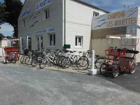 Location de vélos et rosalies > Camping Les Mouettes