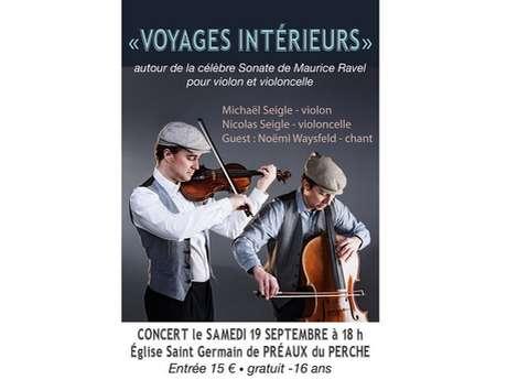 """Journées du Patrimoine - """"Voyages Intérieurs"""" Concert"""