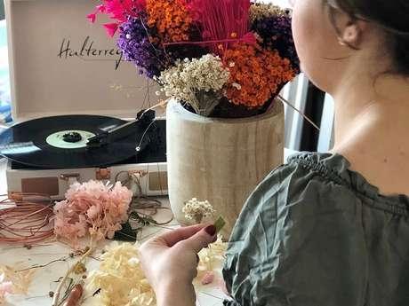 Atelier Emilie Moon : fabrication de couronnes de fleurs