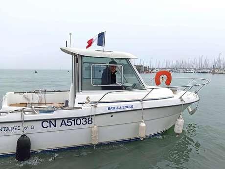 Session de permis bateau avec le CRNG