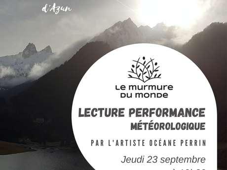 Lecture performance avec l'artiste Océane Perrin