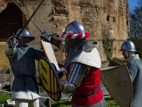 Combat et adoubement au Château de Montaner