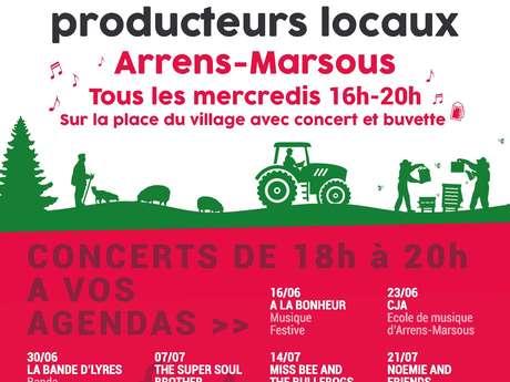 Marché des producteurs du Val d'azun & Concerts toute la saison