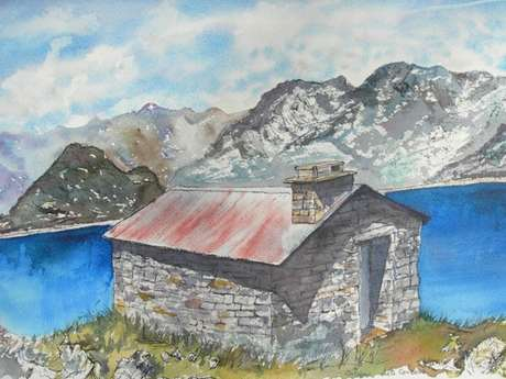 Refuges et Cabanes des montagnes -Aquarelles- Daniel Cahuzac