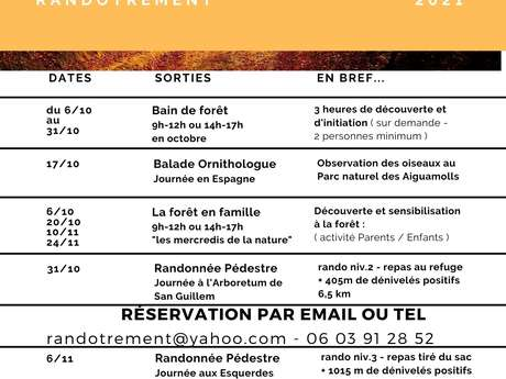 """""""BAIN DE FORET"""" ORGANISE PAR L'ASSOCIATION RANDOTREMENT"""